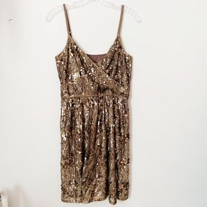 Express | Gold Sequin Mini Dress